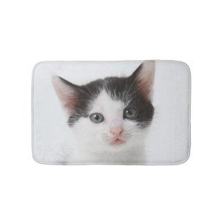 Black Spotted Kitten Bath Mat