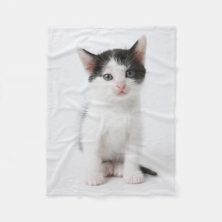 Black Spotted Kitten Fleece Blanket