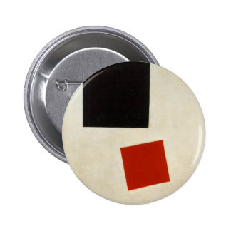 Black Square and Red Square by Kazimir Malevich 6 Cm Round Badge