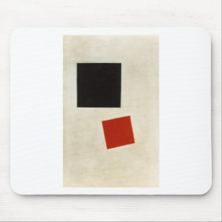 Black Square and Red Square by Kazimir Malevich Mouse Pad