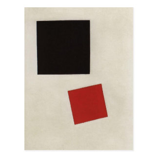 Black Square and Red Square by Kazimir Malevich Postcard
