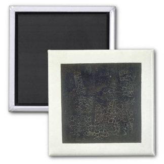Black Square Refrigerator Magnet