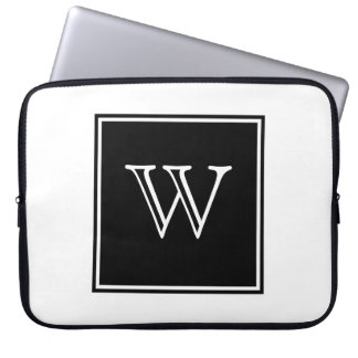 Black Square Monogram Laptop Sleeve