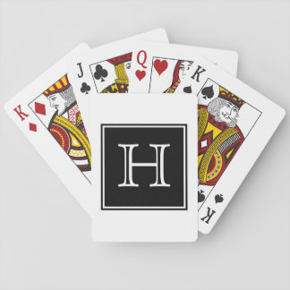 Black Square Monogram Playing Cards