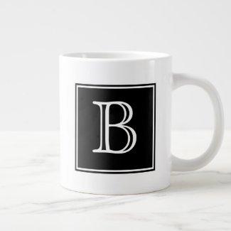 Black Square Monogram Speciality Mug