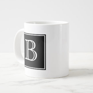 Black Square Monogram Specialty Mug