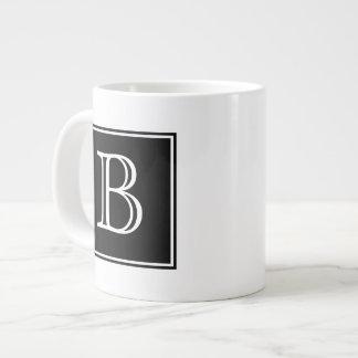Black Square Monogram Specialty Mug