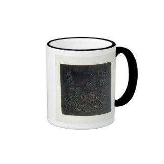 Black Square Ringer Coffee Mug