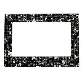 Black Squares Magnetic Frame