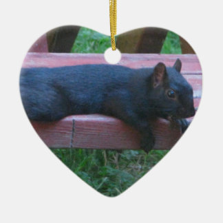 Black Squirrel Christmas Ornament