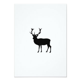 Black Stag - Bachelor or Stag Party 13 Cm X 18 Cm Invitation Card