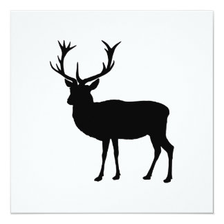 Black Stag - Bachelor or Stag Party Personalized Invitation