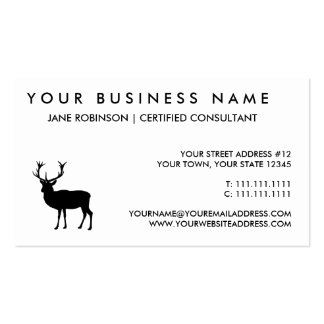 Black Stag - Bachelor or Stag Party Pack Of Standard Business Cards