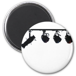 Black Stage Light Silhouettes Digital Camera 6 Cm Round Magnet