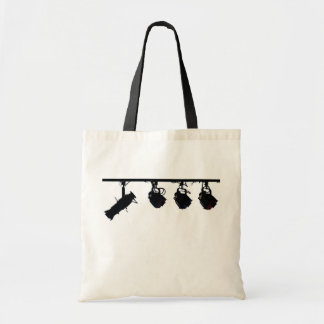 Black Stage Light Silhouettes Digital Camera Tote Bag