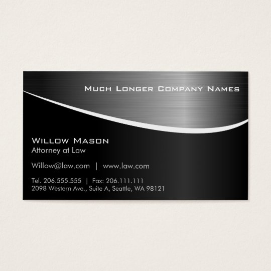 Black Stainless Steel Effect, Business Card Plus