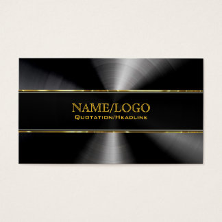 Black Stainless Steel & Gold Accents Template