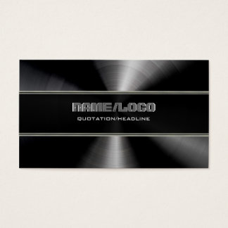 Black Stainless Steel & Gray Accents Template Business Card