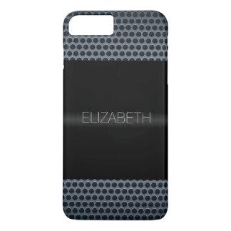 Black Stainless Steel Metal Look iPhone 7 Plus Case