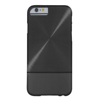 Black Stainless Steel Metallic Barely There iPhone 6 Case