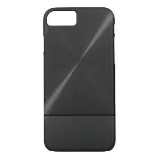 Black Stainless Steel Metallic iPhone 7 Case