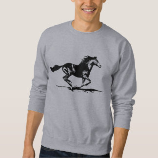 Black Stallion Horse Graphic Sweatshirt