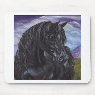 BLACK STALLION HORSE Mousepad