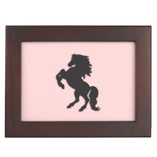 Black Stallion on Pink Memory Boxes