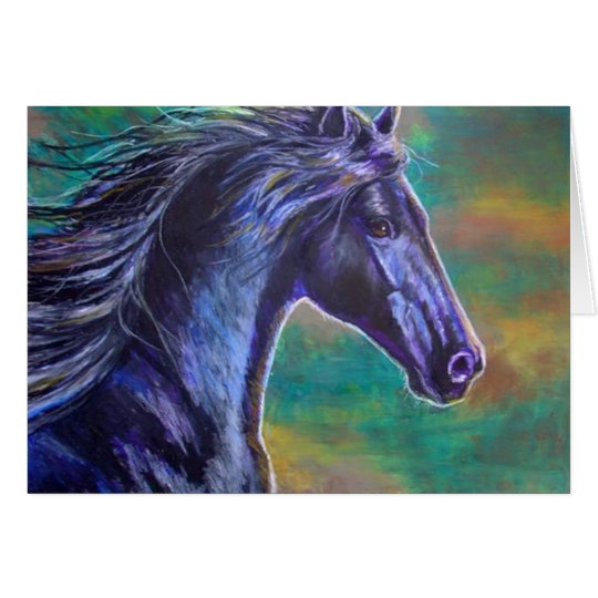Black Stallion Running Card