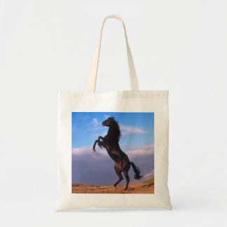Black Stallion Tote Bag