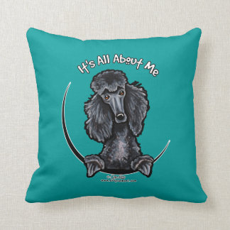 Black Standard Poodle IAAM Cushion