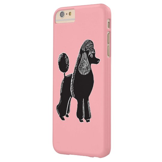 Black Standard Poodle Pink iPhone 6/6s Plus Case