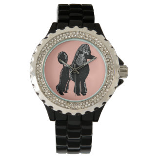 Black Standard Poodle Women's Wristwatch