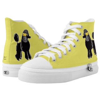 Black Standard Poodles Yellow Shoes
