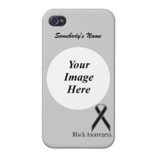 Black Standard Ribbon by Kenneth Yoncich iPhone 4 Covers