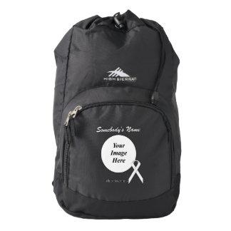 Black Standard Ribbon Template Backpack