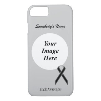 Black Standard Ribbon Tmpl by Kenneth Yoncich iPhone 7 Case