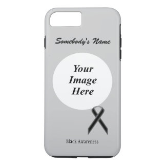 Black Standard Ribbon Tmpl by Kenneth Yoncich iPhone 7 Plus Case