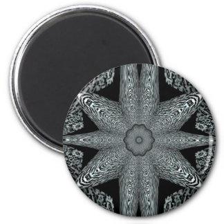 Black Star 6 Cm Round Magnet