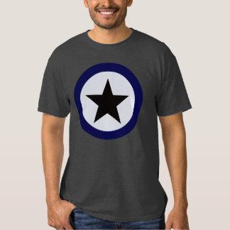 Black Star Blue Circle T-Shirt