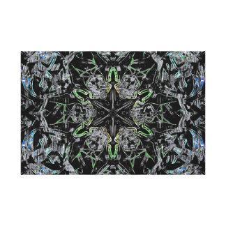 Black star Blue Gallery Wrap Canvas