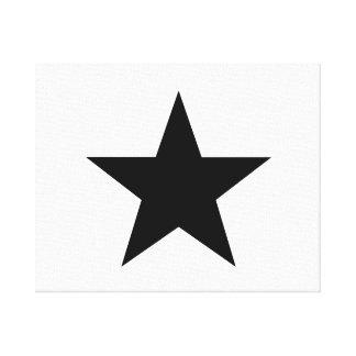 Black Star Canvas Print