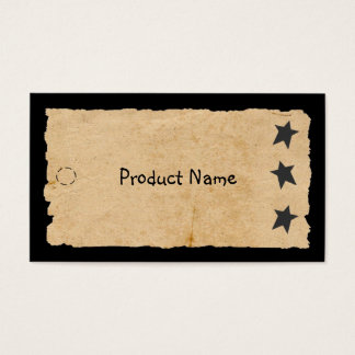 Black Star Hang Tag Business Card