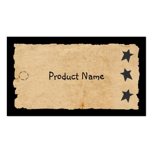 Black Star Hang Tag Business Card Template