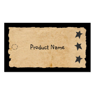 Black Star Hang Tag Pack Of Standard Business Cards