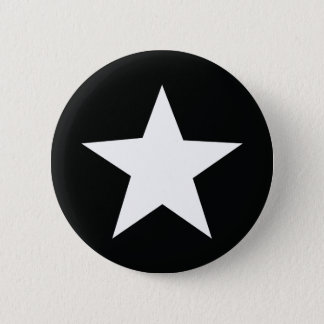 black star icon army 6 cm round badge