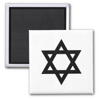 Black Star of David Square Magnet