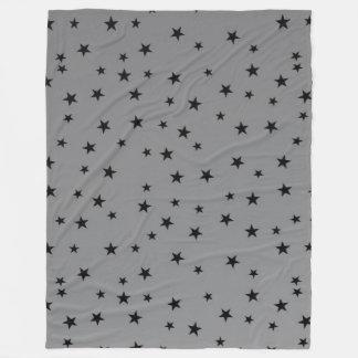 black stars grey throw blanket