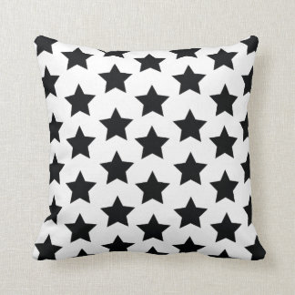 Black Stars, Modern Monochrome Stylish Cushion. Cushion