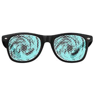 Black Stars Twister Retro Sunglasses